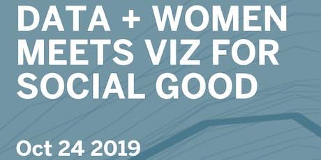 Data + Women Dublin Tableau User Group - Viz for Social Good tickets