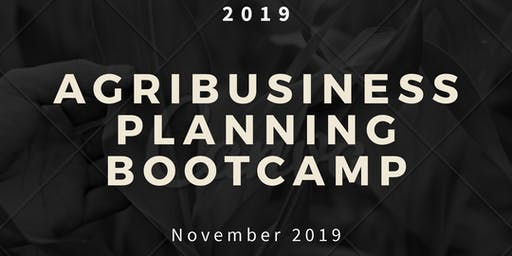 Agribusiness Planning Bootcamp