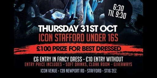 Icon under 16s Halloween night - 31st October