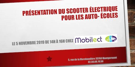 Présentation du scooter électrique pour les auto-écoles
