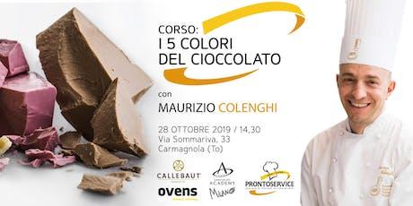 """Corso: """"I 5 colori del cioccolato"""" biglietti"""