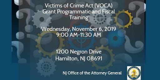 Victims of Crime Act (VOCA) Grant Training