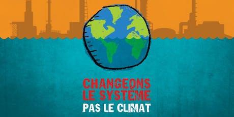 CONFÉRENCE JQSI 2019 - Changeons le système, pas le climat! billets