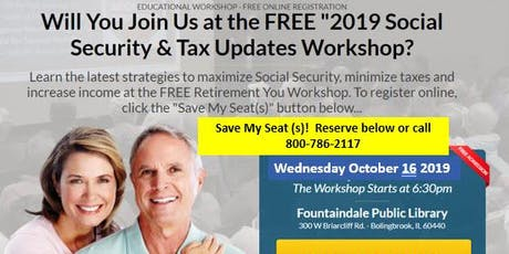 Social Security and Tax Updates tickets