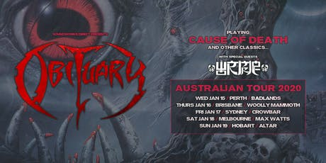OBITUARY - Melbourne tickets