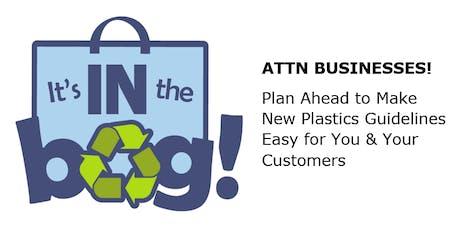 Business Workshop: Single-Use Plastics Transition Program (10 a.m.) tickets