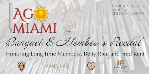 AGO Miami Banquet & Member's Recital