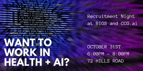 Health + AI: Recruitment Night at BIOS and CCG.ai tickets