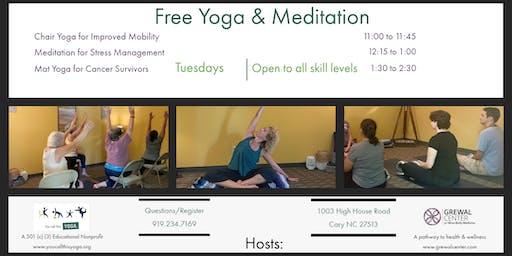 Free Mat Yoga for Cancer Survivors