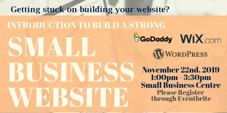 Introduction to build a strong Small Business Website tickets
