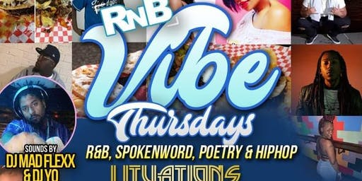Free R&B Vibe $3 drinks $4 Eats Free Hookah b4 11