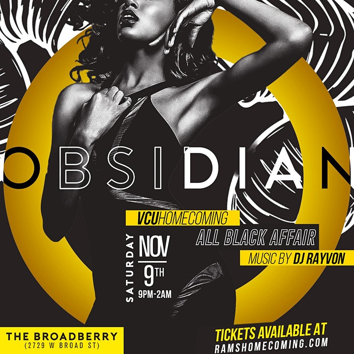 Obsidian - VCU Homecoming All Black Affair image