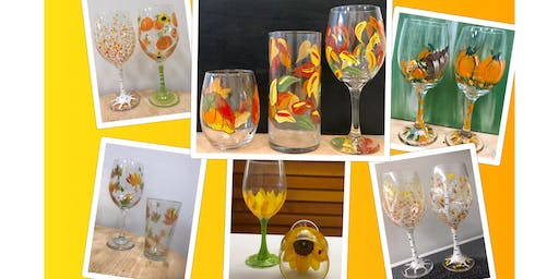 "CENTER-SPHERE Naugatuck Chapter Social Networking Fundraiser ""Mission 22"" painting ""Fall Glasses"""