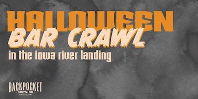 Halloween Bar Crawl in The Iowa River Landing