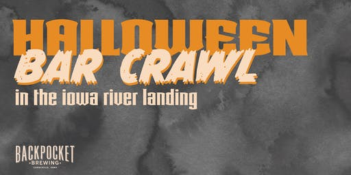 Halloween Bar Crawl in The Iowa River Landing