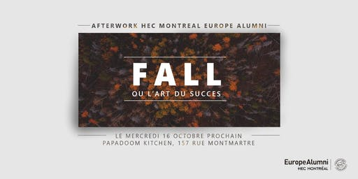 ✭ FALL AFTERWORK HEC Montréal Europe Alumni ✭ 16 OCTOBRE 2019