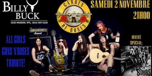 Guns n' roses All female tribute band  and the bombs