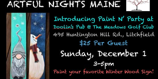Introducing Paint N' Party at Doolin's Pub at The Meadows Golf Club