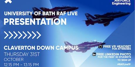 RAF LIVE PRESENTATION - Bath tickets