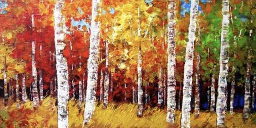 'Birch Trees in the Fall' Paint Night