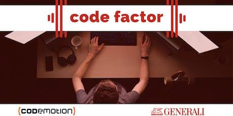 Generali Code Factor tickets