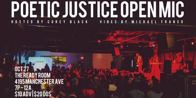 Poetic Justice Open Mic - October