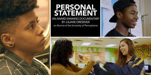 Film Screening: PERSONAL STATEMENT with director Julie Dressner Penn C89