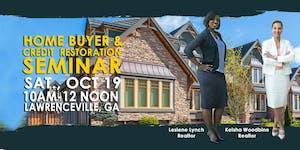 FREE October Home Buyer & Credit Restoration Seminar