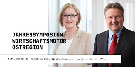 """Jahressymposium """"Wirtschaftsmotor Ostregion"""" Tickets"""