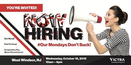 Open Hiring Event for Sales Consultants - West Windsor, NJ billets