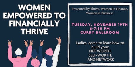 Women Empowered To Financially Thrive - Fall 2019 tickets