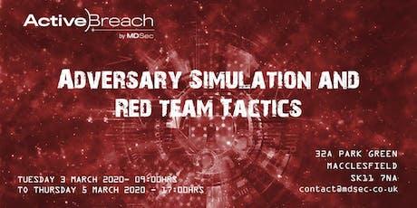 Adversary Simulation and Red Team Tactics tickets