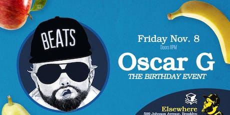 Oscar G @ Elsewhere (Hall) tickets