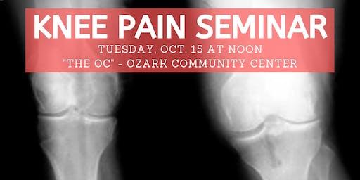 Ozzie Smith Center KNEE Pain Seminar - Oct. 15