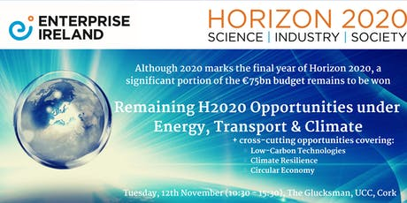 Remaining H2020 Opportunities under Energy, Transport & Climate tickets