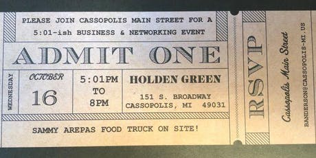 Cassopolis Main Street 5:01-ish Business & Networking Event tickets