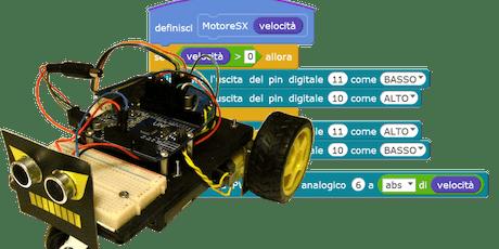 CoderDojo@VizzoloPredabissi - ICS della Margherita 19/10/2019 - Modulo robotica biglietti