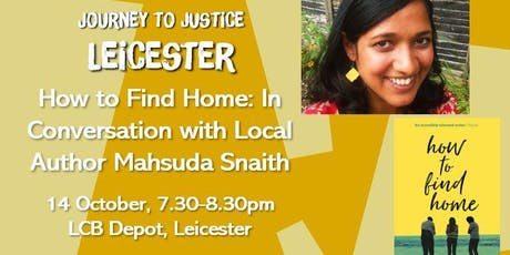 'How To Find Home': In conversation with local author Mahsuda Snaith tickets
