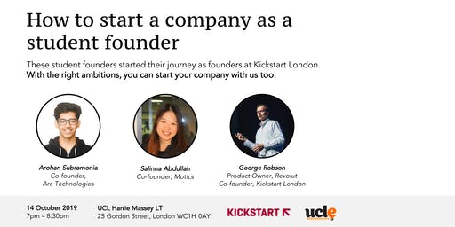 How to start a company as a student founder