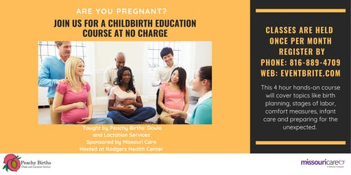 Childbirth Education Class: No charge