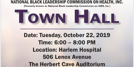 Black Health Town hall tickets