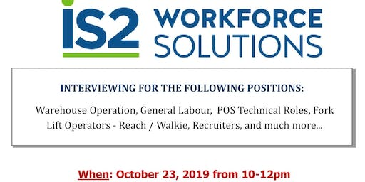 Hiring Event: IS2 Workforce Solutions