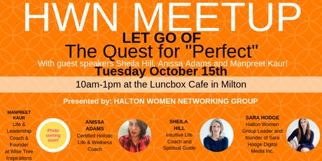 HALTON WOMEN NETWORKING -OCTOBER MEETUP tickets