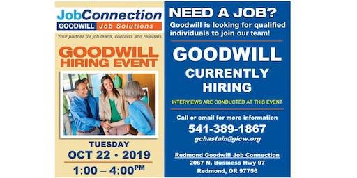 Goodwill is Hiring - Redmond - 10/22/19