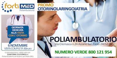 VISITA COMPLETA CON L'OTORINO - PROMO NOVEMBRE 2019