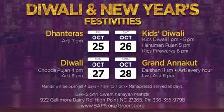 Diwali and New Year's Festivities tickets