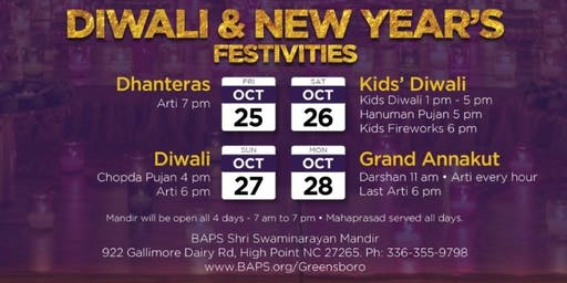 Diwali and New Year's Festivities