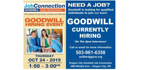 Goodwill is Hiring - Oregon City - 10/24/19 tickets