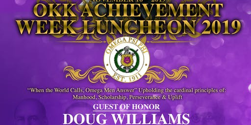 Omicron Kappa Kappa Chapter 2019 Achievement Week Luncheon