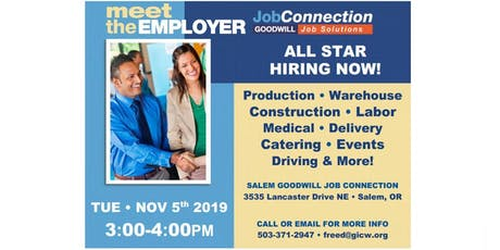 Hiring Event - Salem - 11/5/19 tickets